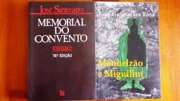 Livros Memorial do Convento e Manuelzão e Miguilim