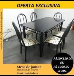Oferta Imperdivel de Conjunto de Mesa 6 cadeiras Novo na Caixa(Entrega e Montagem Gratis)