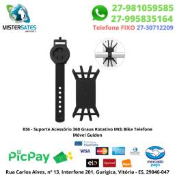 836 - Suporte Acessório 360 Graus Rotativo Mtb Bike Telefone Móvel Guidon<br><br>
