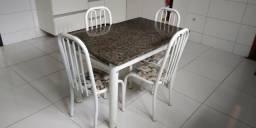 Mesa Tubular Granito + 4 cadeiras!