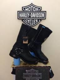 Bota Harley-davidson® Mens Delinquent Skull Harness Black 40/41