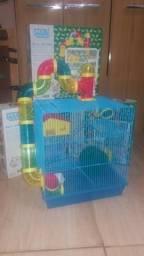 Gaiola 3 andares + tubos para Hamster/Esquilo Gerbil