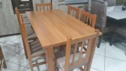 Mesa 1,50 X 0,85 6 cadeiras