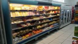 Expositor refrigerado + 2 refrigeradores auto serviço (pacote)