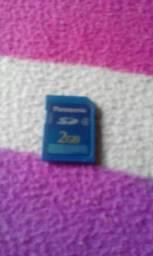 Vendo cartão SD de 2gb por 15 reas