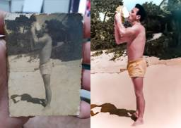 Restauração de fotos