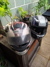 Imperdível 2 capacetes excelentes os dois por R$ 80.00