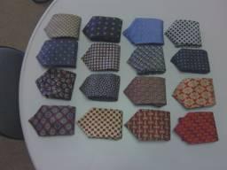 LOTE = 16 gravatas clássicas de grife