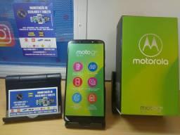 Moto G6 Play com caixa carregador e fone tela sem nenhum risco top
