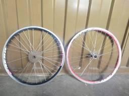Par de rodas Aero alumínio aro 26