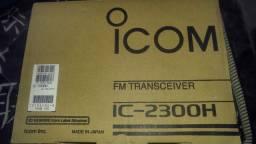 Radio Icom Ic-2300 Vhf 65 Wats Com selo Anatel e Detalhe 1 furo de fixação