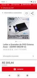 Leitor e gravador de dvd externo slim