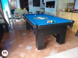 Mesa de Bilhar Charme Preta Tx Tecido Azul Personalizada Modelo HFG5652