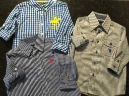 Dmv - Camisa 2 anos manga 3/4 varias marcas masc