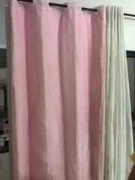 Cortina rosa claro