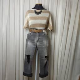 Calça Jeans Destroyed R$17,00