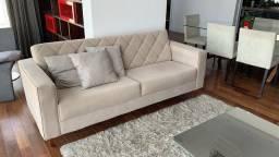 Sofa 3 lugares em Suede