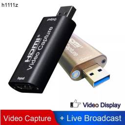 Placa De Captura Video Hdmi Usb - 4K / 1080p Streaming Gamer Live