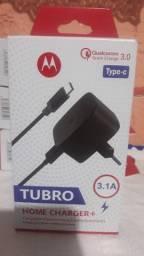 Carregador Motorola Turbo Power Tipo C 3.1a Qualcomm 3.0