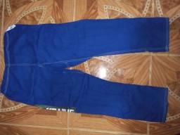 Vendo kimono de jiu-jitsu semi-novo Azul