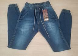 Calça jeans menino Jogger infantil