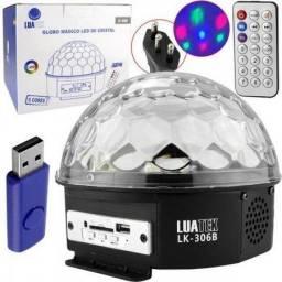 Bola Maluca Bluetooth, Globo Projetor Jogo Luz Colorida, Meia Bola