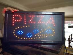 Placa de led de café e pizza