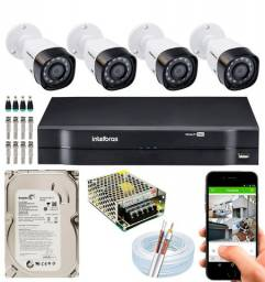 Kit DVR INTELBRAS instalado