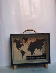 Cofre do mapa mundial
