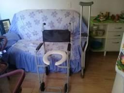 cadeira de banho e moletas