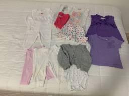Lote de roupas bebe tamanho 6 meses
