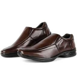 Sapaton Social Masculino Marrom liso