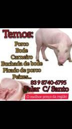 Carne de porco,bode,picado e buchada