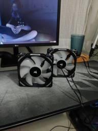 2 Coolers Fans Corsair ML120 Pro RGB 120mm