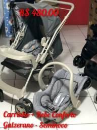 Carrinho com bebe Conforto Galzerano Crianca