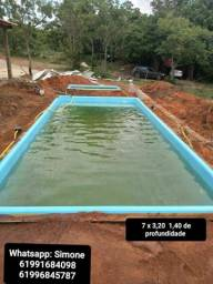 piscinas de fibra instalada!!!7 mts