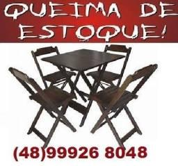 Título do anúncio: Madeira de lei -Promoção- de Conjuntos de mesas dobrável