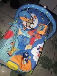 Cadeira de balanço e descanso, vibra e toca!