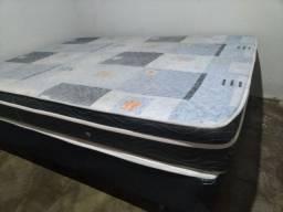 Vendo cama box casal seminova