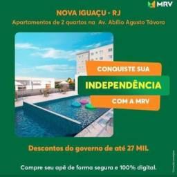 Apartamento 2 Quartos próx ao Shopping Nova Iguaçu - Residencial Tupinambás