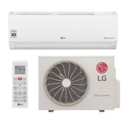 Ar-condicionado split hw lg dual inverter compact 9.000 btu's só frio 220V