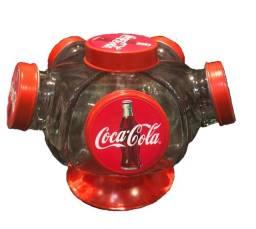 Baleiro Giratório Vidro Coca Cola 1.250 ml.