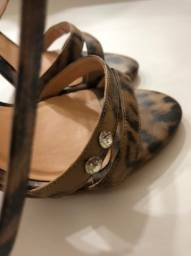 sandália tira fina luiza barcelos animal print