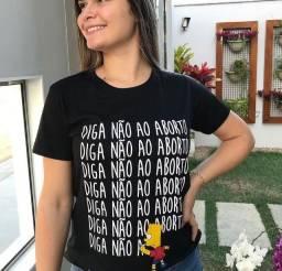 Camiseta Diga não ao aborto