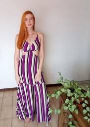 Vestido Longo  Fenda Frente última Peça Promoçao