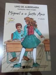 Livro paradidático Miguel e o sexto ano