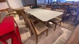 Título do anúncio: Mesa seis lugares nova lançamento pintura laka e madeira