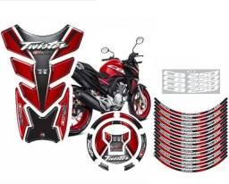 Kit Adesivo Cb 250 Twister 2019 2020 Bocal Roda Aro Tanque - Prime