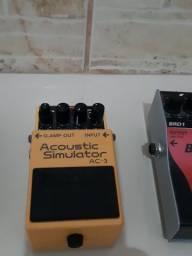 Vendo pedal Boss AC3 acústico,  semi novo. Ou troco por pedaleira de meu interesse.