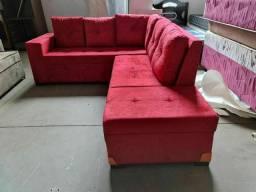 Sofá vermelho novo no Isadora móveis